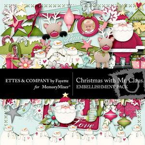 Christmas with mr claus emb medium