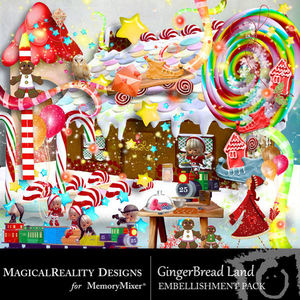 Gingerbread land emb medium
