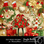Jingle Bells Embellishment Pack-$2.99 (Fly Pixel Studio)