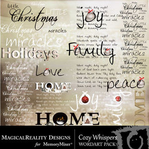 Cozy whispers wordart medium