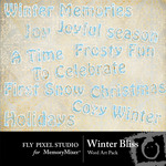 Winter Bliss WordArt Pack-$1.99 (Fly Pixel Studio)