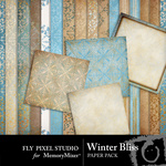 Winter Bliss Paper Pack-$3.99 (Fly Pixel Studio)