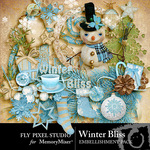 Winter Bliss Embellishment Pack-$2.99 (Fly Pixel Studio)