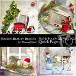 HoHoHo On My Way Quick Page QuickMix 1-$3.49 (MagicalReality Designs)
