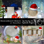 HoHoHo On My Way Quick Page QuickMix 2-$3.49 (MagicalReality Designs)