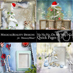 HoHoHo On My Way Quick Page QuickMix 3-$3.49 (MagicalReality Designs)