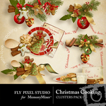 Christmas Cooking Cluster Pack-$1.99 (Fly Pixel Studio)