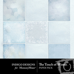 The Touch of Winter Paper Pack-$3.99 (Indigo Designs)