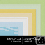 Squeaky Clean Embossed Paper Pack-$2.49 (Lindsay Jane)