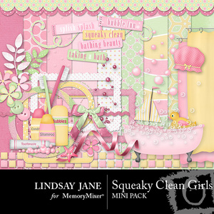 Squeaky clean girls mini pack medium