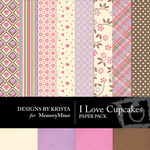 Love Cupcakes Paper Pack-$3.99 (Designs by Krista)