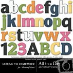 All in a Day Alphabet Pack-$3.49 (Albums to Remember)
