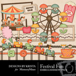 Festival fun Embellishment Pack-$2.99 (Designs by Krista)