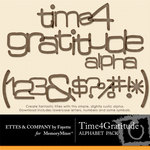 Time 4 Gratitude Alphabet Pack-$0.99 (Ettes and Company by Fayette)