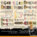 Time 4 Gratitude WordArt Pack-$1.99 (Ettes and Company by Fayette)