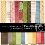 Time 4 Gratitude Paper Pack-$3.99 (Ettes and Company by Fayette)