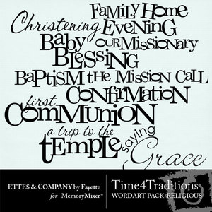 Time 4 traditions wordart religious medium
