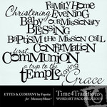 Time 4 Traditions Religious WordArt Pack-$2.99 (Fayette Designs)