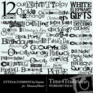 Time 4 traditions wordart medium