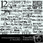 Time 4 Traditions WordArt Pack-$1.99 (Ettes and Company by Fayette)
