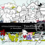 Time 4 Traditions Embellishment Pack-$3.49 (Ettes and Company by Fayette)