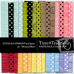 Time 4 Traditions Color Pop Paper Pack-$3.99 (Ettes and Company by Fayette)