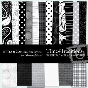 Time 4 traditions black white pp medium