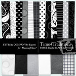 Time 4 Traditions Black and White Paper Pack-$3.99 (Ettes and Company by Fayette)