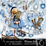 Winter Joy Embellishment Pack-$2.50 (Fly Pixel Studio)