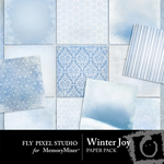Winter Joy Paper Pack-$3.50 (Fly Pixel Studio)