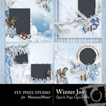 Winter Joy Quick Page QuickMix-$3.50 (Fly Pixel Studio)