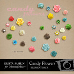 Candy Flowers Embellishment Pack-$3.09 (Krista Sahlin)