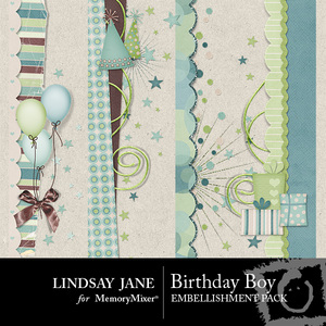 Birthday boy borders medium