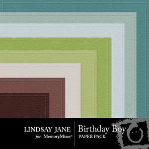 Birthday boy embossed pp medium