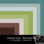 Birthday boy embossed pp small