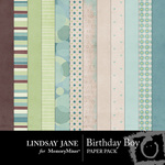 Birthday Boy Paper Pack-$3.49 (Lindsay Jane)