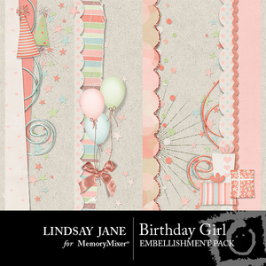 Birthday girl borders medium