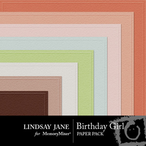 Birthday girl embossed pp medium
