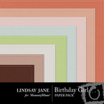 Birthday Girl Embossed Paper Pack-$2.49 (Lindsay Jane)
