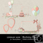 Birthday Girl Frame Pack-$1.99 (Lindsay Jane)