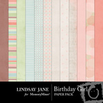 Birthday Girl Paper Pack-$3.49 (Lindsay Jane)