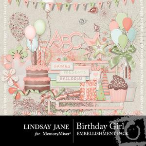 Birthday girl emb medium