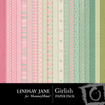 Girlish Paper Pack-$3.49 (Lindsay Jane)