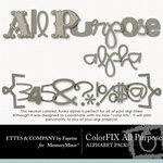 ColorFIX All Purpose Alphabet Pack-$1.49 (Ettes and Company by Fayette)