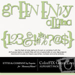 ColorFIX Green Envy Alphabet Pack-$1.49 (Ettes and Company by Fayette)