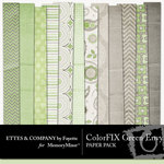 ColorFIX Green Envy Paper Pack-$2.99 (Ettes and Company by Fayette)