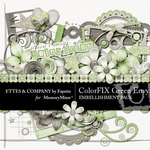 ColorFIX Green Envy Embellishment Pack-$3.99 (Ettes and Company by Fayette)