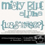 ColorFIX Misty Blue Alphabet Pack-$1.49 (Ettes and Company by Fayette)