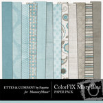 ColorFIX Misty Blue Paper Pack-$2.99 (Ettes and Company by Fayette)