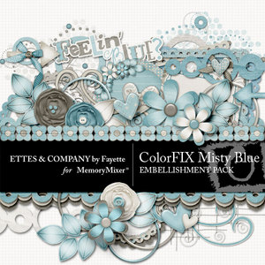 Colorfix misty blue emb medium